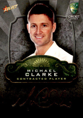 Michael Clarke, Contracted Player Gold Foil Signature, 2009-10 Select Cricket