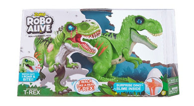 ZURU ROBO ALIVE ROBOTIC T-REX (GREEN) WITH GLOW IN DARK SLIME