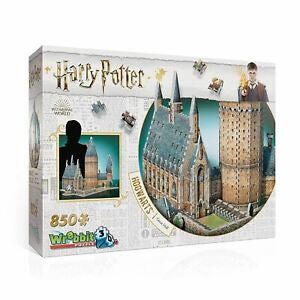 Harry Potter Hogwarts Great Hall 850 Piece 3D Puzzle by Wrebbit