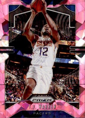 TJ Warren, Pink Cracked Ice, 2019-20 Prizm Basketball