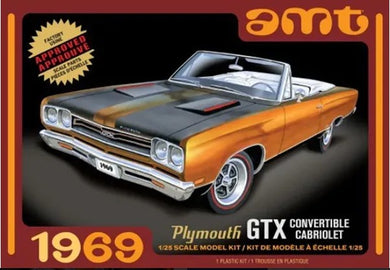 1969 Plymouth GTX Convertible Cabriolet, 1:25 Scale Plastic Model Kit
