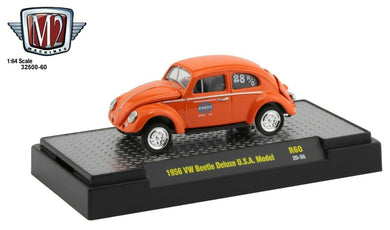 1956 VW Beetle Deluxe USA Model, EMPI Equipped, M2 Machines, 1:64 Diecast Vehicle