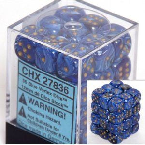 CHX 27836 Vortex 12mm d6 Blue/gold (36)