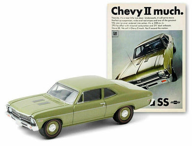 1968 Chevrolet Nova SS, Vintage Ad Cars, 1:64 Diecast Vehicle