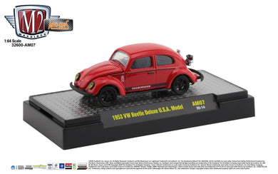 1953 VW Beetle USA Model, Auto Mods, M2 Machines, 1:64 Diecast Vehicle