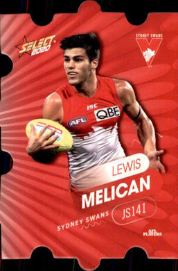 JS141 Lewis Melican, Jigsaw, 2020 Select AFL Footy Stars