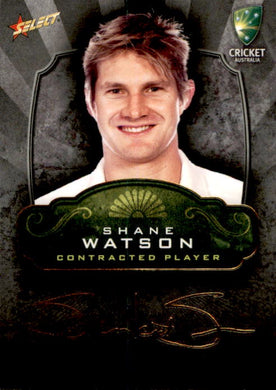 Shane Watson, Contracted Player Gold Foil Signature, 2009-10 Select Cricket