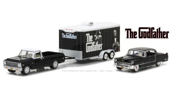 The Godfather 1972 Ford F-100 W/1955 Cadillac Fleetwood, 1:64 Diecast Vehicle
