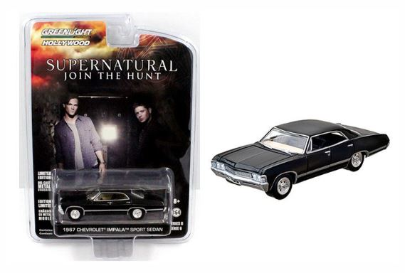 Supernatural 1967 Chevrolet Impala Sedan, 1:64 Diecast Vehicle