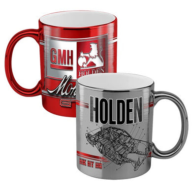 Holden Heritage Collection Set of 2 Metallic Mugs