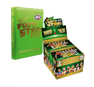 COMBO: 2021 Select AFL Footy Stars Box & Album