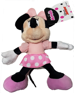 Disney Junior Minnie Mouse with Pink Dotty Dress Small Plush Toy