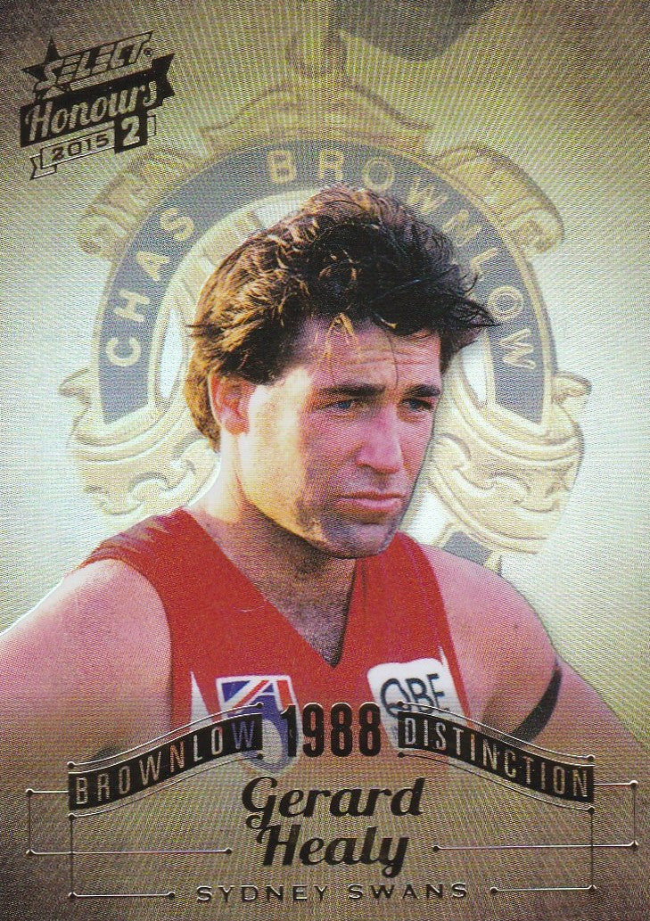 Gerard Healy, Brownlow Distinction, 2015 Select AFL Honours 2
