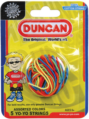 Duncan Yo Yo Strings 5 Pack Multi Color (100% Cotton)