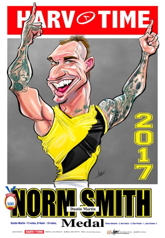 Dustin Martin, 2017 Norm Smith Medallist, Harv Time Poster
