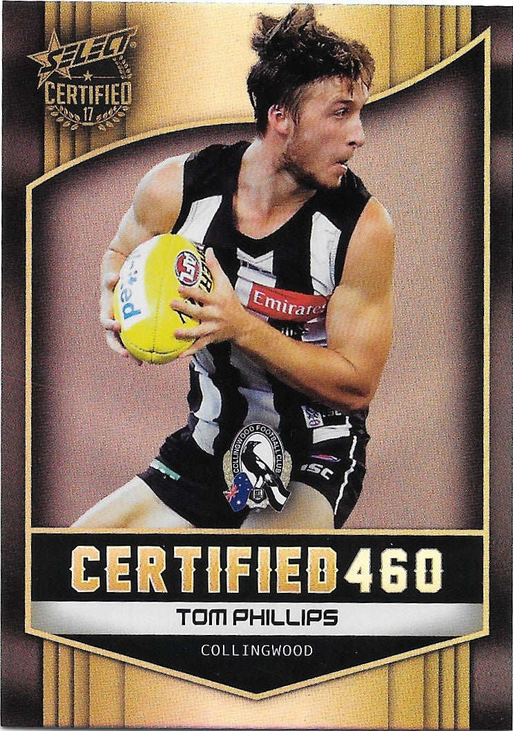 Tom Phillips, Certified 460, 2017 Select AFL Certified