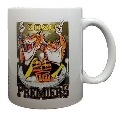 2020 Richmond Tigers Back to Back Premiers, Harv Time Mug