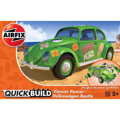 AIRFIX QUICKBUILD VW BEETLE FLOWER-POWER