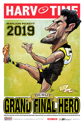 Marlion Pickett, 2019 Grand Final Hero, Harv Time Poster