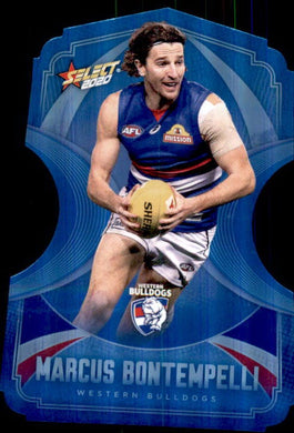 Marcus Bontempelli, Ice Blue Diecuts, 2020 Select AFL Footy Stars