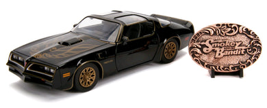 Smokey & The Bandit 1977 Pontiac Firebird Trans Am with Buckle, 1:24 Scale Diecast Hollywood Ride