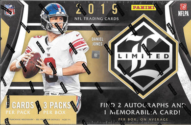 2019 Panini Limited NFL Football Hobby Box