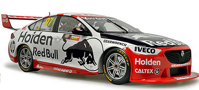 Classic Carlectables Shane Van Gisbergen & Garth Tander's 2019 Holden 50th Anniversary Retro Bathurst Livery Red Bull HRT 1:18 Scale Diecast Model Car