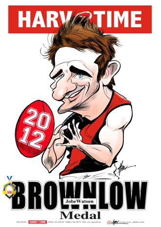 Jobe Watson, 2012 Brownlow Harv Time Poster