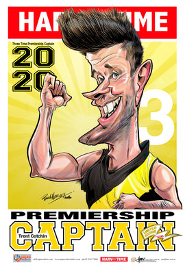 Trent Cotchin, 2020 Premiership Captain, Harv Time Poster