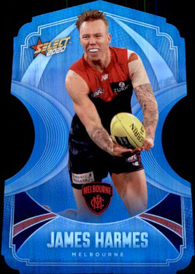 James Harmes, Ice Blue Diecuts, 2020 Select AFL Footy Stars