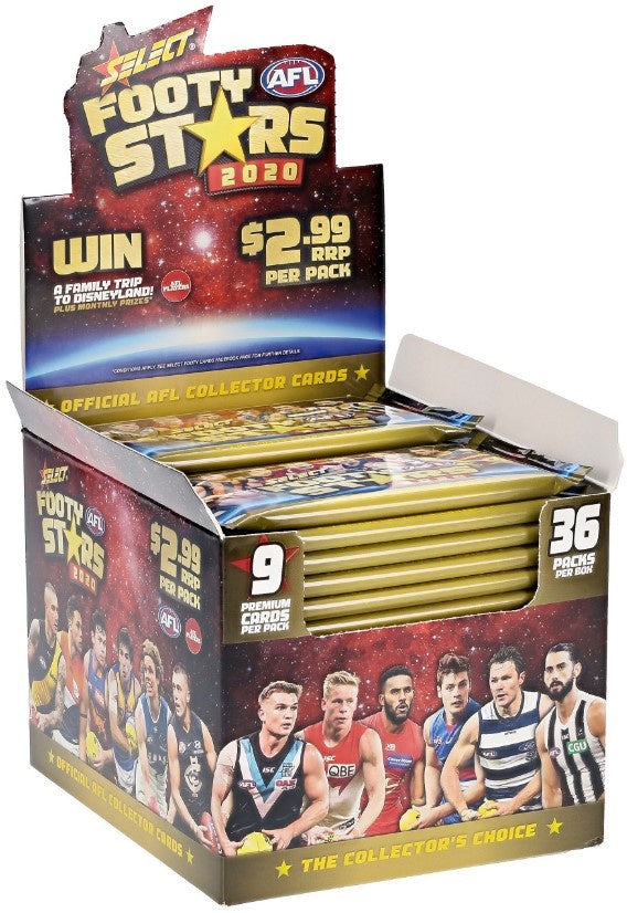 PRE ORDER: 2020 Select AFL Footy Stars Box