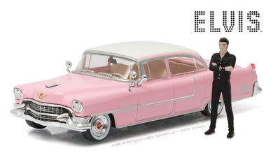 1955 Cadillac Fleetwood Series 60 with Elvis Presley Figure, 1:43 Diecast Vehicle