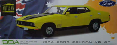 1974 Ford Falcon XBGT Yellow 4 Door Sedan, 1:18 Diecast Vehicle