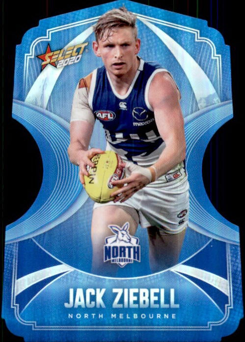 Jack Ziebell, Ice Blue Diecuts, 2020 Select AFL Footy Stars