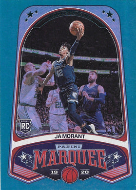 Ja Morant, RC, Green Foil Marquee, 2019-20 Panini Chronicles NBA Basketball