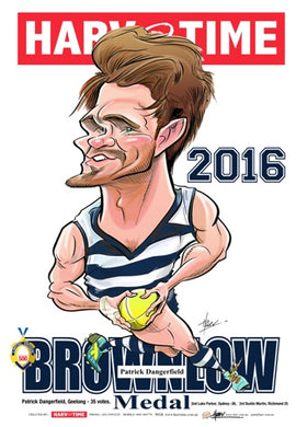Patrick Dangerfield, Brownlow Harv Time Poster