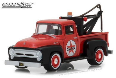 Caltex 1956 Ford F-100 with Drop in Tow Hook, 1:64 Diecast Vehicle