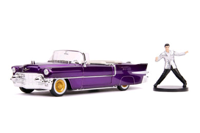 Elvis - 1956 Cadillac El Dorado 1:24 Scale Diecast with Figure Hollywood Ride