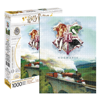 Harry Potter Hogwarts Express with Crest 1000 Piece Jigsaw Puzzle by Aquarius