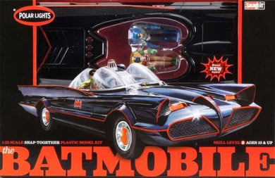 1966 Batmobile Snap Plastic Kit with Figures, 1:25 Scale Model Kit