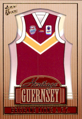 Brisbane Lions, Heritage Guernsey, 2004 Select AFL Ovation