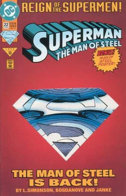 Superman The Man of Steel, Reign of the Supermen #22 Comic