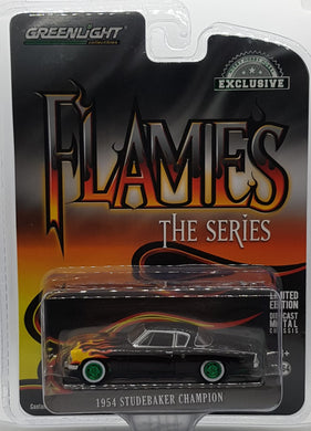 GREEN MACHINE: 1954 Studebaker Champion, Flames Series, 1:64 Diecast Vehicle