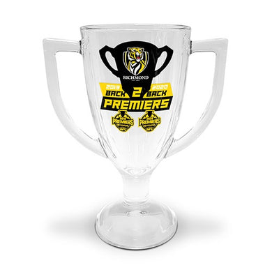 Back to Back 2020 RICHMOND TIGERS PREMIERSHIP TROPHY GLASS