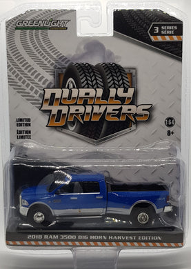 2018 RAM 3500 Big Horn Harvest Edition, Dually Drivers S3, 1:64 Diecast Vehicle