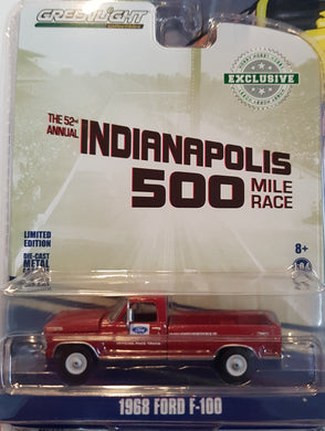 1968 Ford F-100 52nd Annual Indianapolis 500 Mile Race Official Truck, 1:64 Diecast Vehicle