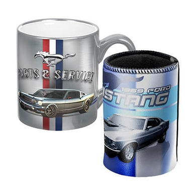 FORD MUSTANG PARTS & SERVICE METALLIC MUG & COOLER GIFT PACK