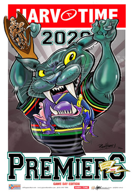 Penrith Panthers 2020 NRL Premiers Game Day Harv Time Poster