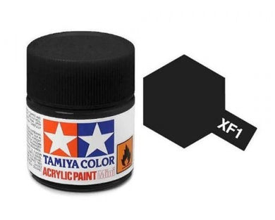 TAMIYA ACRYLIC MINI XF-1 FLAT BLACK 10ml