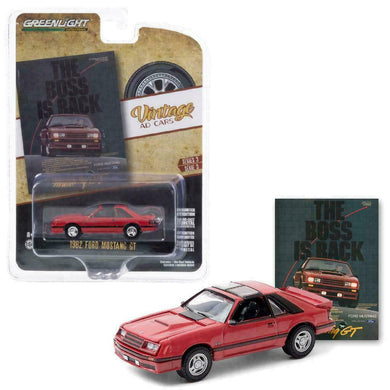 1982 Ford Mustang GT, Vintage Ad Cars, 1:64 Diecast Vehicle